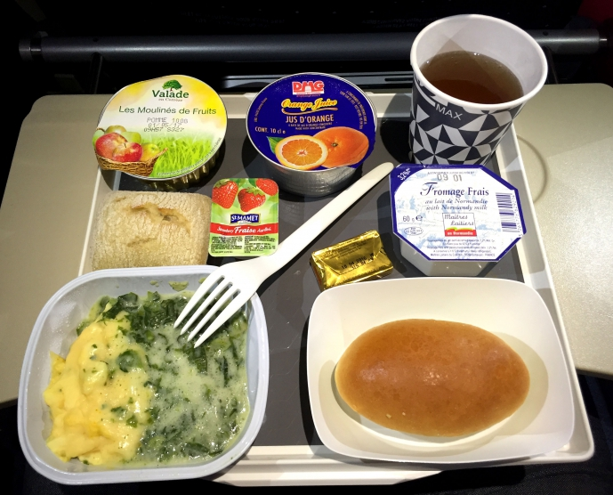 AirFrance breakfast. It tastes not good, but what can we do...